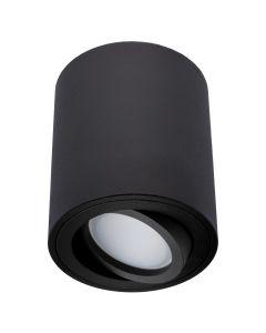 Oprawa Natynkowa HALOGENOWA Ruchoma AMAT-M GU10 LUMILED Okrągła Czarna 84mm