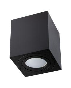 Oprawa Natynkowa HALOGENOWA Ruchoma AMAT-M GU10 LUMILED Kwadratowa Czarna 84mm