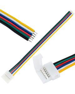 Złączka TAŚMY LED 6PIN RGB+CCT zatrzask jednostronny z przewodem