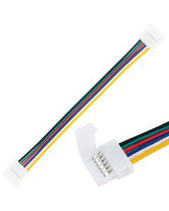 Złączka TAŚMY LED 6PIN RGB+CCT zatrzask dwustronny z przewodem