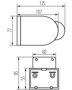 Czujnik Ruchu Natynkowy PIR SLICK JQ Biały 1200VA IP44 Kanlux