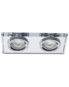 Oprawa sufitowa halogenowa szklana podwójna MORTA 2xMR16 srebrna Kanlux