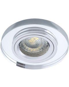 Oprawa sufitowa halogenowa szklana MORTA MR16 srebrna Kanlux
