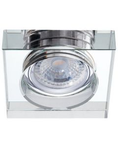 Oprawa sufitowa halogenowa szklana kwadratowa MORTA MR16 srebrna Kanlux
