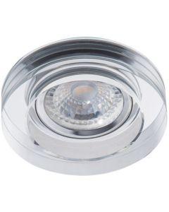 Oprawa sufitowa halogenowa szklana MORTA MR16 Gx5,3 srebrna Kanlux