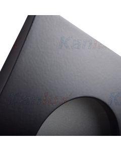 Oprawa sufitowa halogenowa łazienkowa szczelna QULES GU10 czarna Kanlux