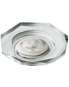 Oprawa sufitowa halogenowa szklana MORTA MR16 GU10 srebrna Kanlux