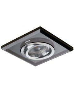 Oprawa sufitowa kwadratowa halogenowa szklana MORTA MR16 GU10 czarna Kanlux