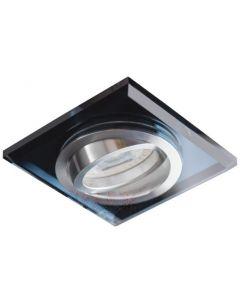 Oprawa sufitowa kwadratowa halogenowa Ruchoma szklana MORTA MR16 GU10 czarna Kanlux