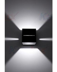 Oprawa lampa ścienna natynkowa czarna KINKIET ASIL G9 Kanlux