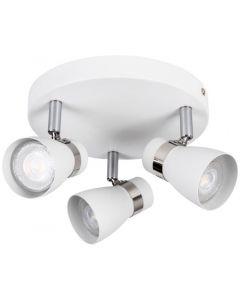 Oprawa lampa sufitowa ENALI 3xGU10 biała Kanlux