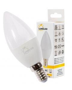 Żarówka LED ŚWIECZKA E14 5W = 50W 470lm Ciepła 3000K 180° LUMILED