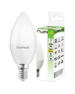 Żarówka LED E14 B35 5W = 50W 470lm 3000K Ciepła 180° LUMILED