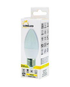 Żarówka LED E27 B35 5W = 40W 470lm 3000K Ciepła 180° LUMILED