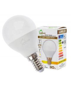 Żarówka LED E14 P45 5W = 50W 470lm 3000K Ciepła 180° LUMILED