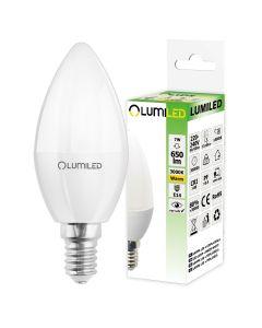 Żarówka LED E14  B35 7W = 65W 650lm 3000K Ciepła 180° LUMILED
