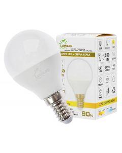Żarówka LED E14 P45 7W = 65W 650lm 3000K Ciepła 210° LUMILED