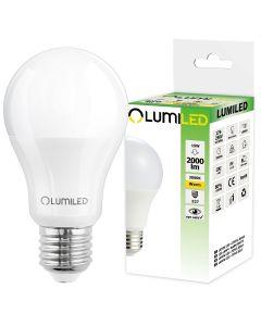 Żarówka LED E27 A65 15W = 150W 2000lm 3000K Ciepła 260° LUMILED