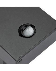 Kinkiet Ogrodowy Elewacyjny Lampa Zewnętrzna LED 12W 4000K IP54 z Czujnikiem Ruchu i Zmierzchu