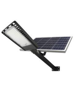Lampa Uliczna SOLARNA oprawa LED Szara 120W 6000K Zimna 9500lm IP65 CZUJNIK ZMIERZCHU z PILOTEM + UCHWYT