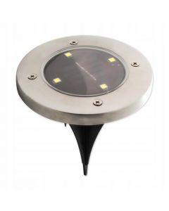 Zestaw 4x Lampka Ogrodowa 4x LED 0,4W SOLARNA DOGRUNTOWA Wbijana IP54