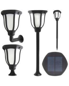 Lampa Ogrodowa LED Solarna Wbijana 1W Zimna IP54 Czujnik Zmierzchu