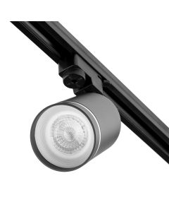 Reflektor Szynowy GU10 Czarny Lampa z Ozdobnym Pierścieniem do Szynoprzewodów Jednofazowych