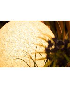 Lampa Zewnętrzna Ogrodowa Wbijana 230V E27 KULA 35cm Kamienna