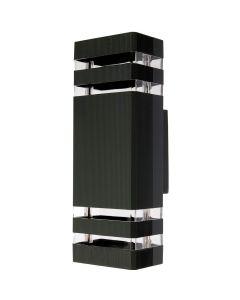 Kinkiet Ogrodowy Elewacyjny Podwójny INEZ DUO LED 2x GU10 ALUMINIUM Czarna IP54