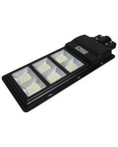 Lampa LED solarna uliczna czarna 270W 6000K zimna IP65 czujnik ruchu i zmierzchu + pilot