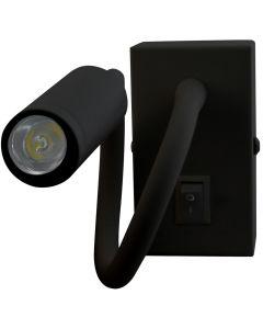 Lampa Ścienna LED Elastyczny Kinkiet do Czytania LEO 3W 4000K Czarny