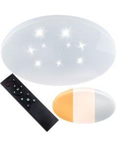 Plafon LED sufitowy łazienkowy 72W 3000-6500K Biały Okrągły Diament 57cm + Pilot