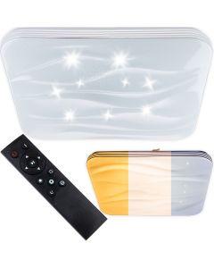 Plafon LED sufitowy łazienkowy 72W 3000-6500K Biały Kwadratowy Diament 43cm + Pilot