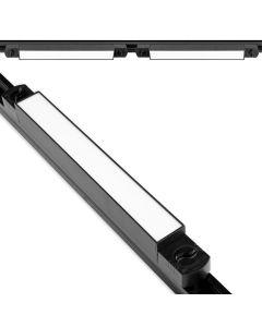 Zestaw Szyna Oświetleniowa Szynoprzewód 1m + 2x Lampy Szynowe LED 15W 4000K Czarna