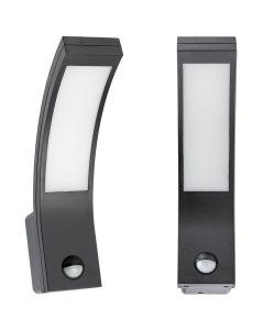 Kinkiet Ogrodowy Elewacyjny Lampa Zewnętrzna LED 10W 4000K IP54 z Czujnikiem Ruchu i Zmierzchu