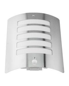 Kinkiet Ogrodowy Elewacyjny Lampa Ścienna E27 LUGO Stalowa Czujnik PIR