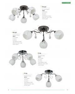 Żyrandol Lampa sufitowa  Greg 5x E14 Metal i szkło Lampex Styl klasyczny