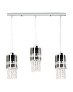 Lampa wisząca Bona 3L 3xE27 Metal i szkło Lampex