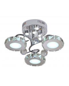 Plafon Liger 3 LED Metal i szkło Lampex