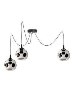 Lampa wisząca dziecięca Mesi Z3 3x E27 piłka nożna football  Ceramika i PCV Lampex