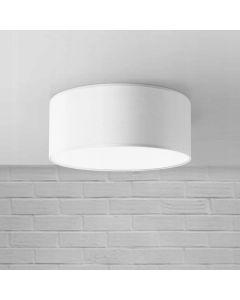 Lampa Sufitowa Plafon Iglo 30 biały 2xE27 Abażur i PCV Lampex
