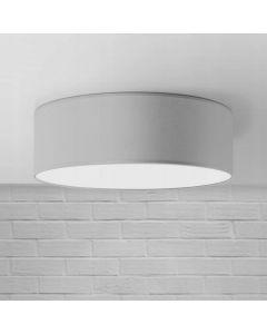 Plafon Lampa sufitowa Iglo Szara 40 cm 3x E27 Abażur tkanina i PCV Lampex