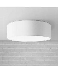 Plafon Lampa sufitowa biała Iglo 50 cm 3x E27 Abażur tkanina i PCV Lampex