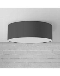 Plafon Lampa sufitowa czarna Iglo 50 cm 3x E27 Abażur tkanina i PCV Lampex