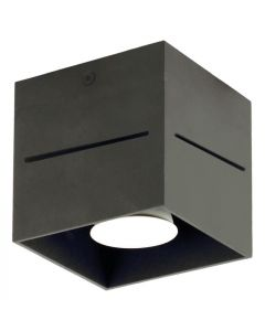 Lampy sufitowe plafon Quado PRO 1 czarny 1xGU10 Metal styl nowoczesny Lampex