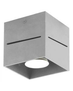 Lampa sufitowa plafon Quado PRO 1 popiel 1xGU10 Metal  styl nowoczesnyLampex