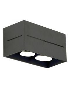 Lampa sufitowa plafon Quado PRO 2 czarny 2xGU10 Metal styl nowoczesny Lampex