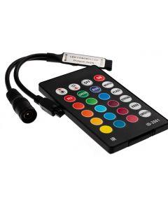 Sterowni RGB IR 24 PRZYCISKI 72W 3x2A 12V DC MINI + PILOT