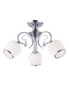 Żyrandol Lampa sufitowa Natan 3 3x E27 Metal i szkło Lampex styl klasyczny glamour