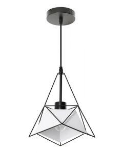 Lampa wisząca Merida biała 1xE27 Industrial Loft Metal Lampex